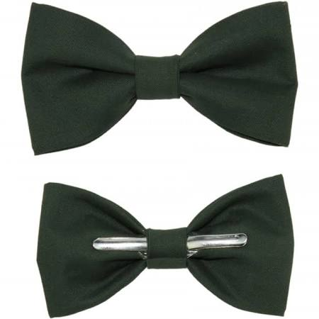 Hillcrest Hunter Green Clip-on Bow Tie