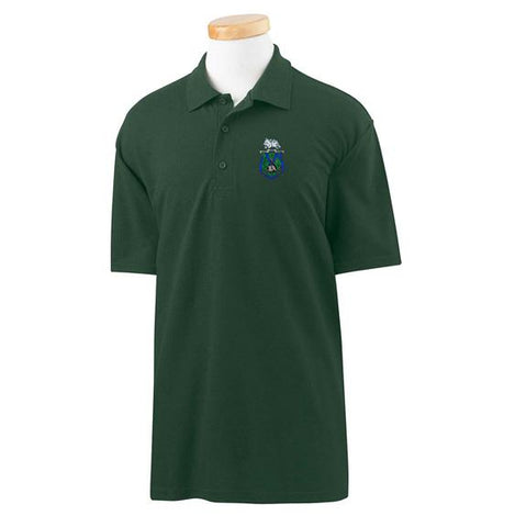 Youth Embroidered Polo - Forest Green