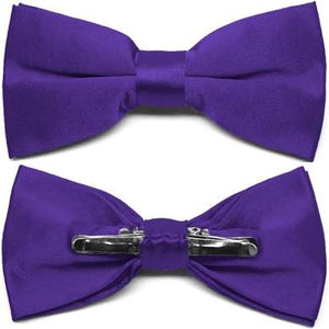 CLEARANCE - Jackson Academy (Hillcrest) Purple Clip-on Bow Tie