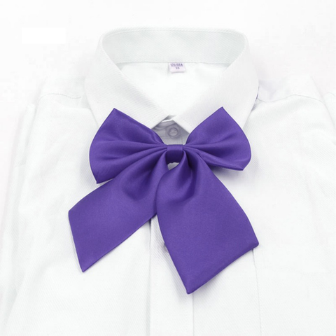 CLEARANCE - Hillcrest Girls BowTie Purple