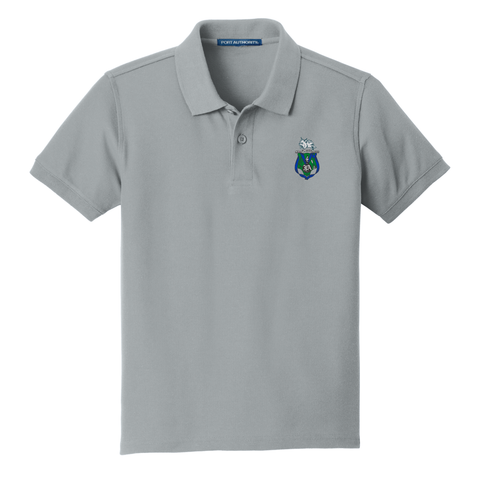 Jewett Academy Youth Embroidered Polo - Gusty Grey (Youth Size)  Some Items are currently unavailable in some sizes. Please check back in a couple of weeks. Thank You PMG School Gear