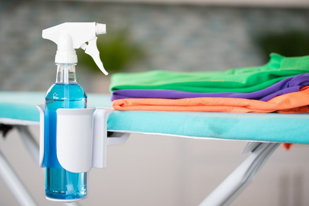 IronEZ - NEW Ironing Board Spray Bottle Holder