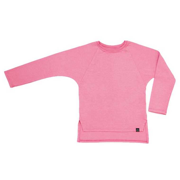 Long Sleeve Raglan Tee in Dusty Rose