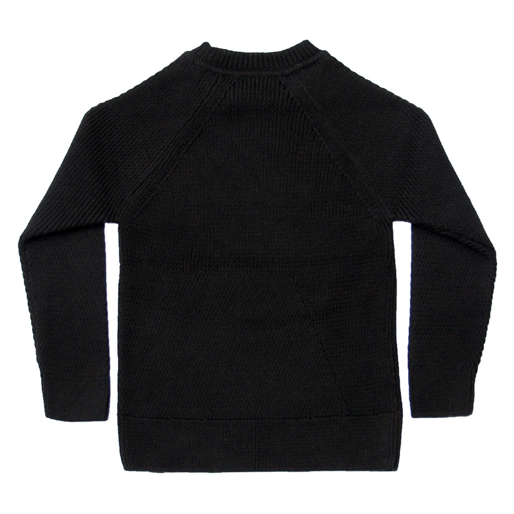 Engineered Stitch Sweater in Black