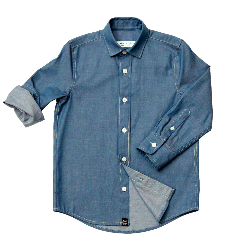 Chambray Shirt in Blue