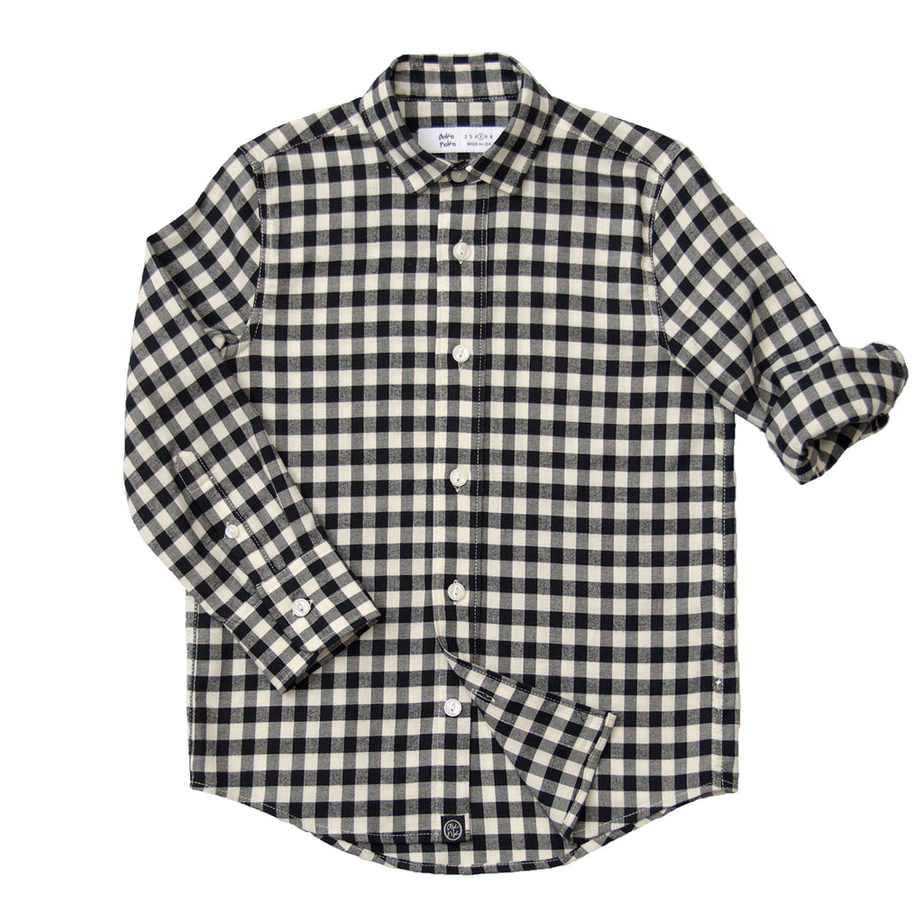 Check Shirt in Black & White