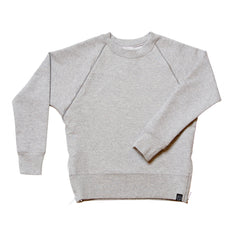 Side Zip Sweatshirt in Heather Grey