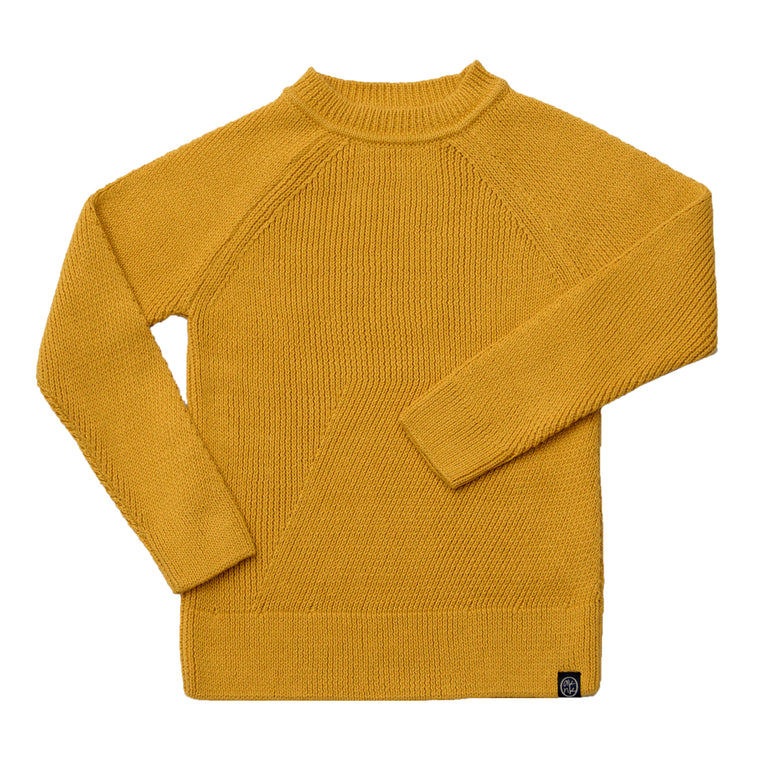 Engineered Stitch Sweater in Yellow Ochre