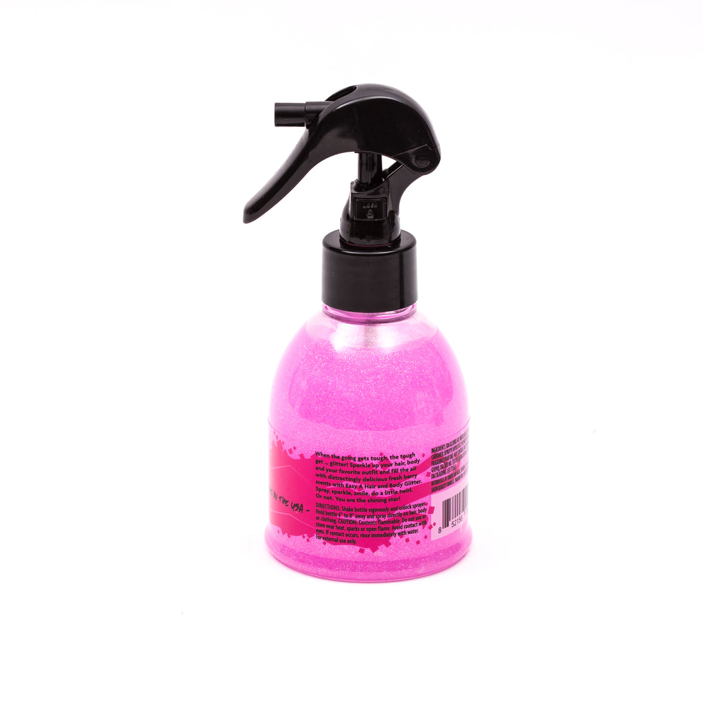 Easy A Hair and Body Glitter, 5 oz, Pink