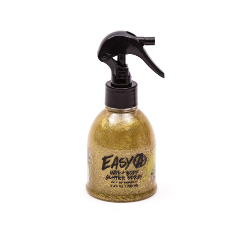 Easy A Hair and Body Glitter, 5 oz, Gold