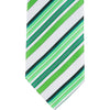 XG47 - 3 Shades of Green & White Stripe