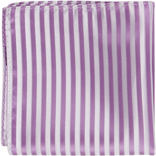 L4 PS - Lilac Stripes - Matching Pocket Square