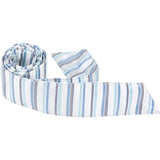 B8 - White with Multi Blue Stripe