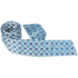 B15 HT - Multi Blue Flowers - Matching Hair Tie
