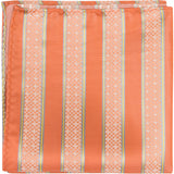O2 PS - Orange with stripes - Matching Pocket Square