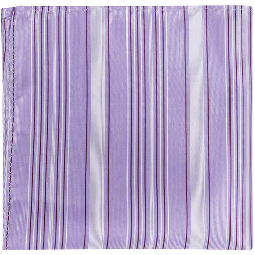 L3 PS - Purple with Multi Stripes - Matching Pocket Square