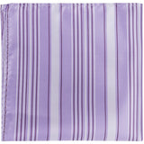 L3 PS - Purple with dark and light stripes - Matching Pocket Square