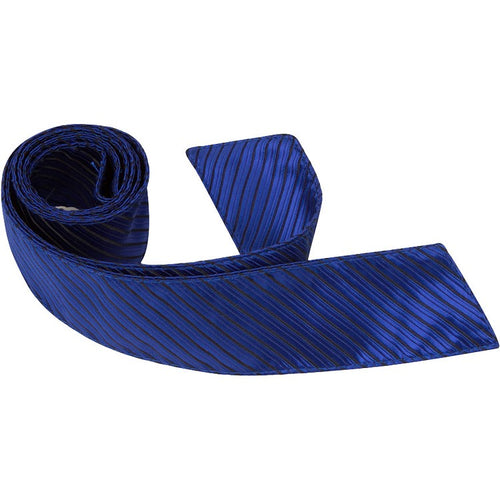 B5-HT - Blue Tie with Small Black Stripes
