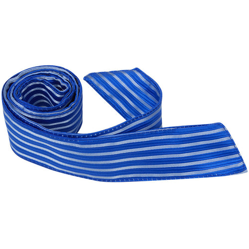 B12 HT - Blue with Light Blue Stripes - Matching Hair Tie