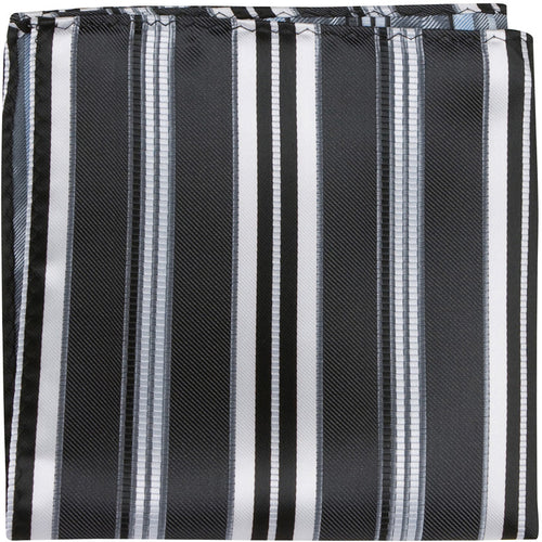 K4 PS - Black with stripes - Matching Pocket Square