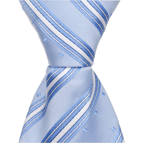 B7 - Blue Multi Stripe with Squares - Standard Width