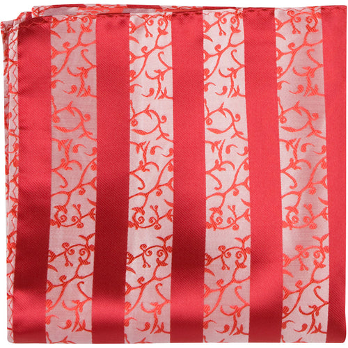 R1 PS - Red with decorative stripe - Matching Pocket Square