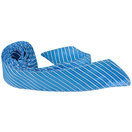B12-HT - Blue with Light Blue Stripes - Hair Tie