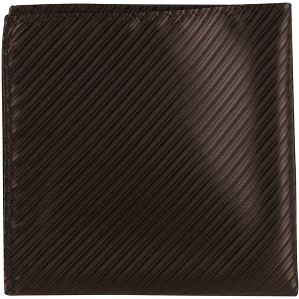 N6 PS - Brown with black pinstripe - Matching Pocket Square