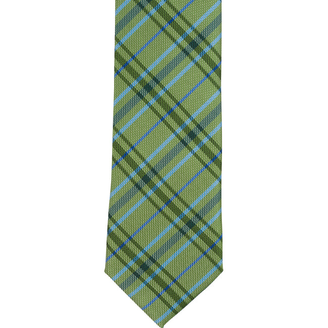 XG48 - Green/Light Blue Plaid - Narrow Width