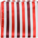 R8 PS - Red with white stripes - Matching Pocket Square