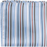 B10 PS - Light Blue Multi Stripe - Matching Pocket Square