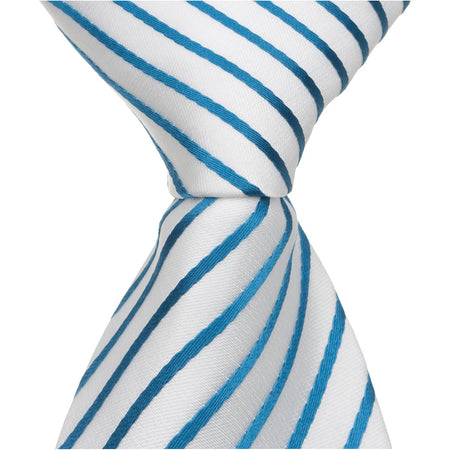 W1 PS - White Pinstripe - Matching Pocket Square
