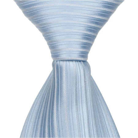B13-HT - White with Blue Stripes Matching Hair Tie