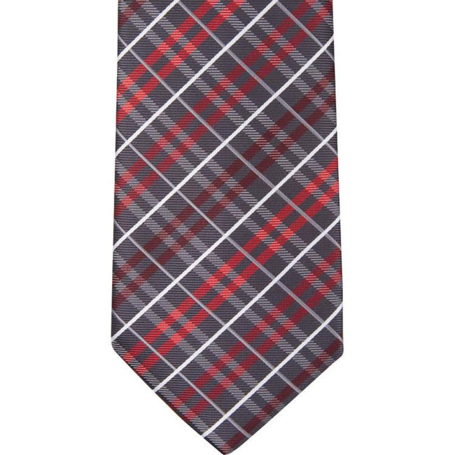 BT-12  Black, Gray, White and Red Plaid