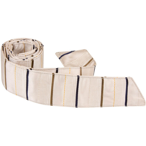 N3-HT - Tan Hair Tie with Stripes