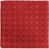 R5 PS - Red Squares with Diamond Accents - Matching Pocket Square