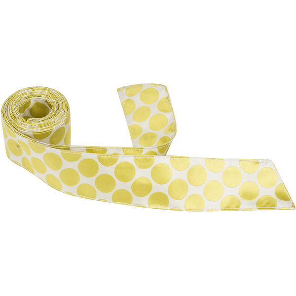 XY23-HT - White with Yellow/Green Polka Dots
