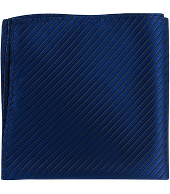 B2 PS - Imperial Blue Pinstripe - Matching Pocket Square