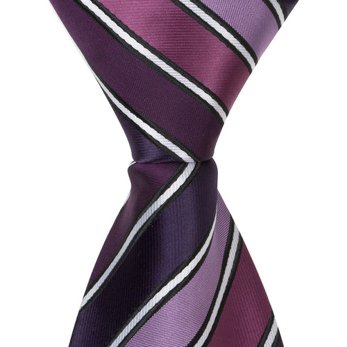 XL17 - Multi Purple with Small White Stripes