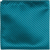 B22 PS - Teal with Black Stripes - Matching Pocket Square