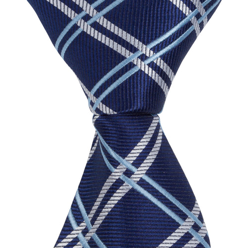 XB36 - Navy with Blue/Tan Thin Stripe - Narrow Width