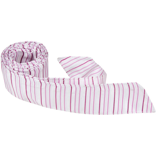 P2 HT - White with Pink Stripe - Matching Hair Tie
