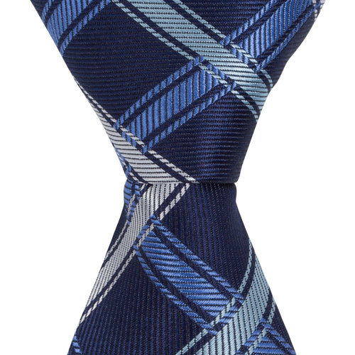 XB40 - Navy with Blue/Gray Thick Stripe - Narrow Width