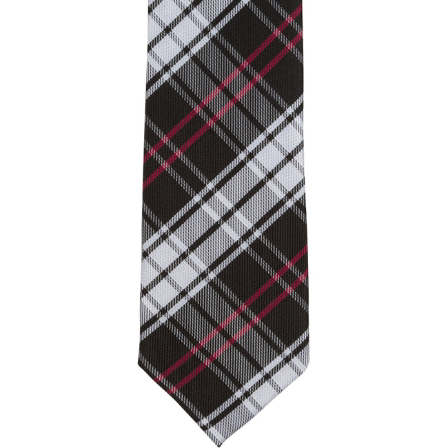 XK46 - Black/White/Red Plaid - Narrow Width
