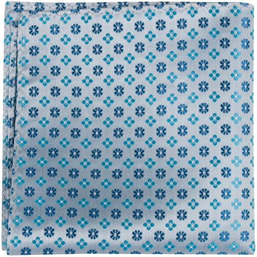 B15 PS - Multi Blue Flowers - Matching Pocket Square