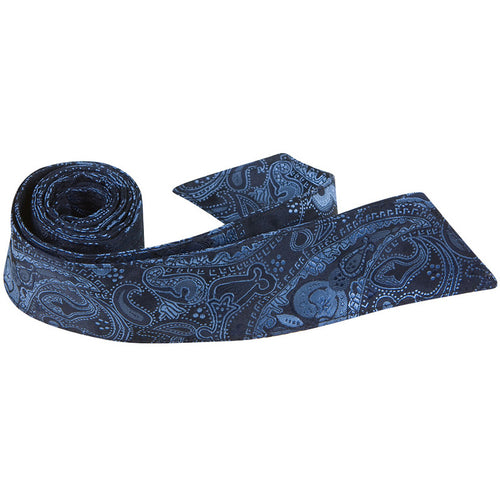 B19-HT - Blue and Black Paisley