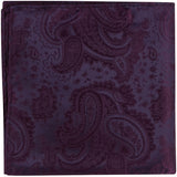 L6 PS - Wine paisley - Matching Pocket Square