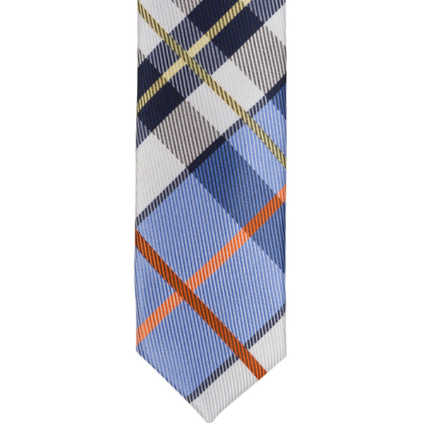 XB41 - Blue with Black/White/Orange Plaid