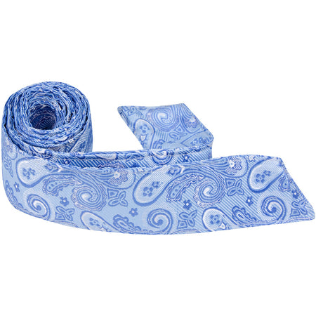 B19 HT - Navy Blue Paisley - Matching Hair Tie