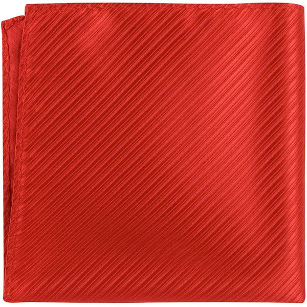 R6 PS - Candy Apple Red Pinstripe - Matching Pocket Square